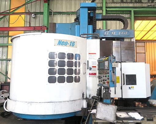 OM Manufacturing CNC Vertical Lathe